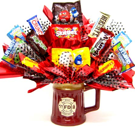 CBFIREMAN ''Fireman Mug'' Candy Bouquet in Oklahoma City OK, Array of Flowers & Gifts