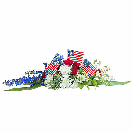 Honor and Glory Centerpiece in Abington MA, The Hutcheon's Flower Co, Inc.
