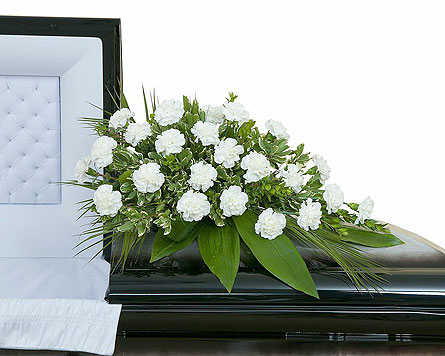 Simple Love Casket Spray in Edmonton AB, Flowers By Merle