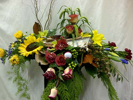 Outdoors Casket Spray in Timmins ON, Timmins Flower Shop Inc.