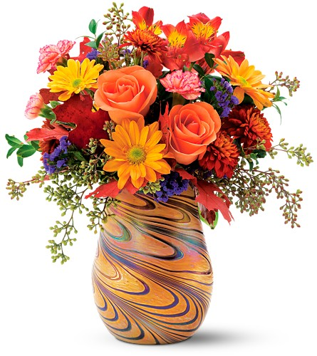 Teleflora's Fall Opalescence Bouquet in Oklahoma City OK, Array of Flowers & Gifts
