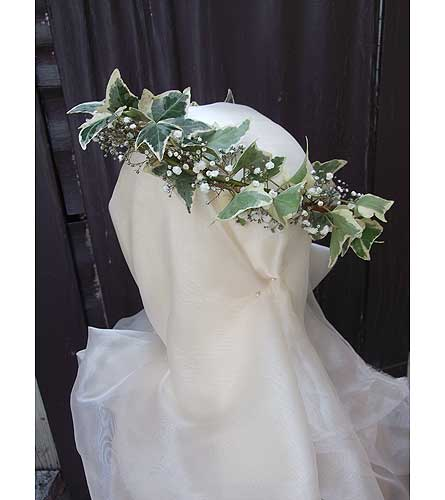 Ivy & Babiesbreath Head Wreath in West Los Angeles CA, Westwood Flower Garden