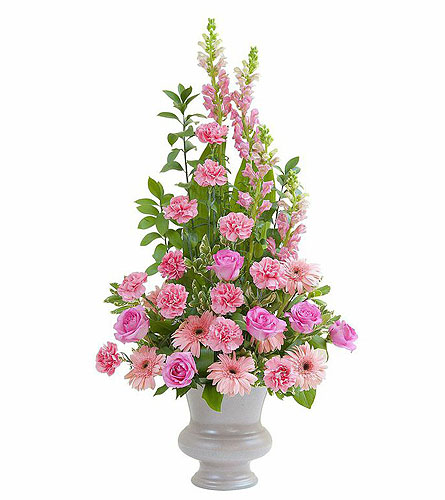 Peaceful Pink Large Urn in Fort Worth TX, TCU Florist