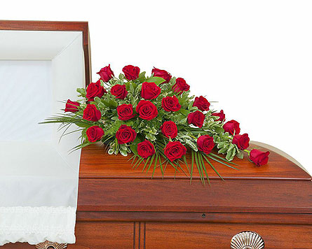 Simply Roses Standard Casket Spray in Ocean City MD, Ocean City Florist