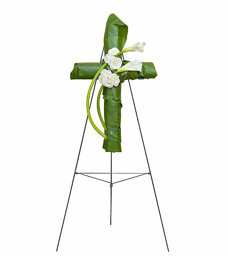 Elegant Love Graceful Cross in Edmonton AB, Flowers By Merle