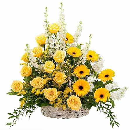 Ray of Sunshine Basket Tribute in Abington MA, The Hutcheon's Flower Co, Inc.