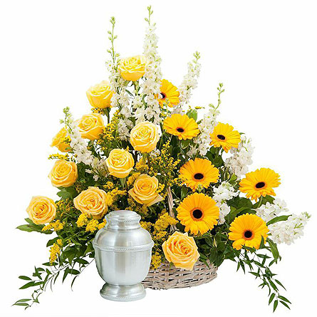 Rays of Sunshine Basket Surround in Abington MA, The Hutcheon's Flower Co, Inc.