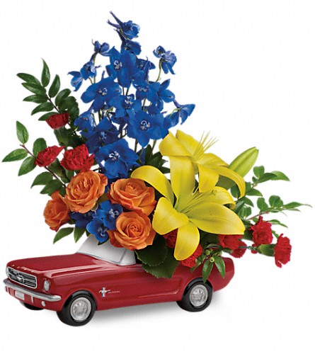 Living The Dream '65 Ford Mustang by Teleflora in Sapulpa OK, Neal & Jean's Flowers & Gifts, Inc.