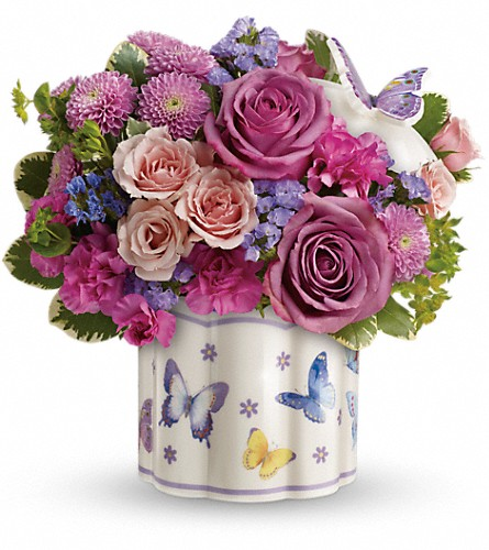 Teleflora's Field Of Butterflies Bouquet in Savannah GA, Ramelle's Florist