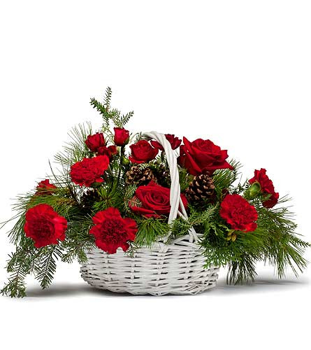 Classic Holiday Basket in South Hadley MA, Carey's Flowers, Inc.