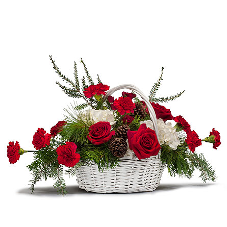 Holiday Basket Bouquet in Kalispell MT, Flowers By Hansen, Inc.