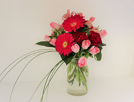Spring in a jar in menomonee falls wi bank of flowers view larger mightylinksfo