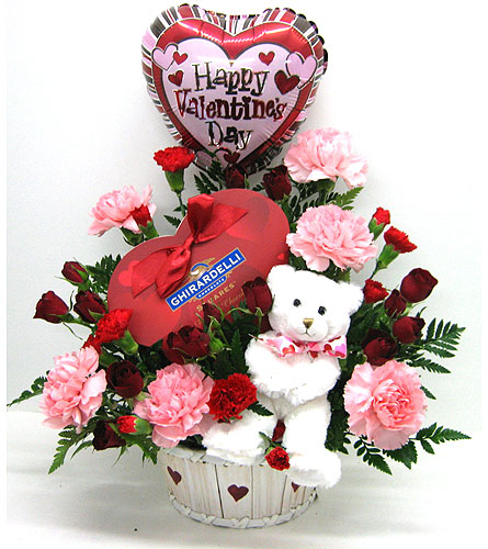 A Beary Happy Valentine in Oklahoma City OK, Array of Flowers & Gifts