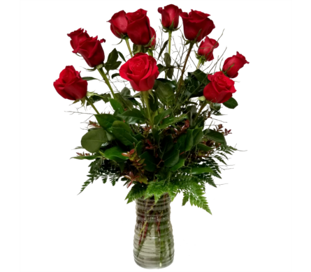 A Perfect Dozen Roses in Eugene OR, The Shamrock Flowers & Gifts