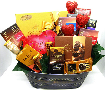 VGF45 ''Gargantuan Godiva Basket'' in Oklahoma City OK, Array of Flowers & Gifts
