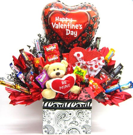 VCB100 ''Be Mine Candy Bouquet'' in Oklahoma City OK, Array of Flowers & Gifts