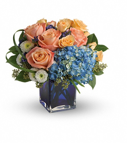 Teleflora's Modern Blush Bouquet in Berkeley CA, Campus Flowers