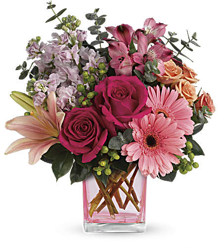 Teleflora's Painterly Pink Bouquet in Vancouver BC, Interior Flori