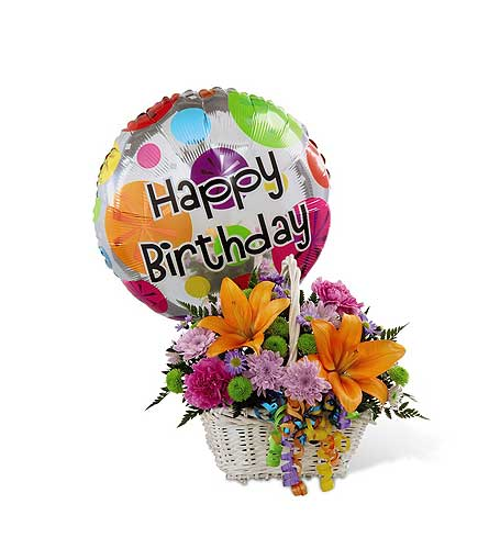 Birthday Basket and Balloon in Agassiz BC, Holly Tree Florist & Gifts