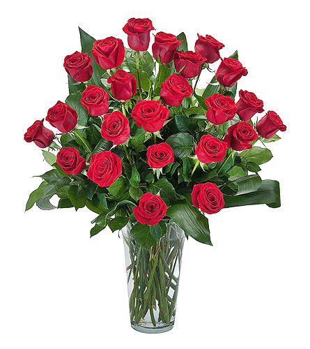 Grand Roses - 2 Dozen Roses in East Syracuse NY, Whistlestop Florist Inc