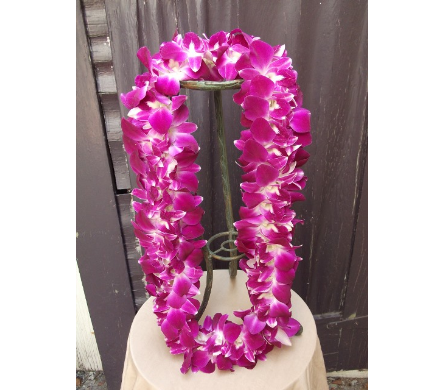 Double Bombay Orchid Lei in West Los Angeles CA, Westwood Flower Garden