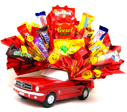 CB305 Mustang Fun Candy Bouquet in Oklahoma City OK, Array of Flowers & Gifts