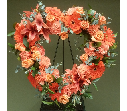 OPEN HEART MIXED FLOWERS in Woodbridge NJ, Floral Expressions