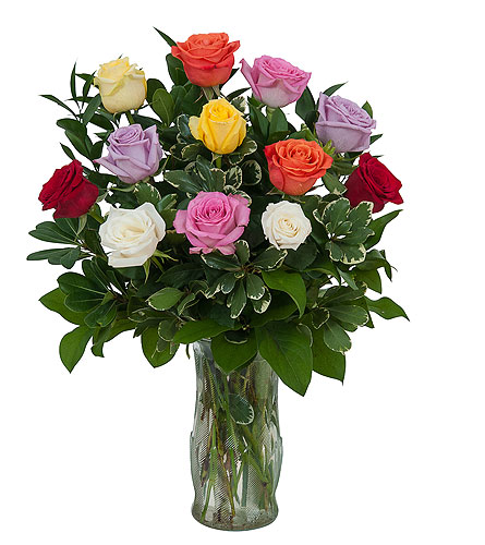 Dozen Roses - Mix it up! in Oshkosh WI, Flowers & Leaves LLC