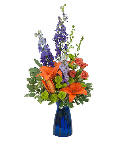 Cheer the Blues in Amherst NY, The Trillium's Courtyard Florist