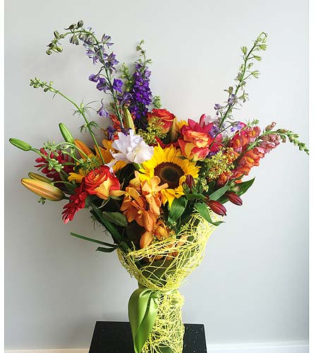 Summer Blend CUT BOUQUET    in Victoria BC, Fine Floral Designs