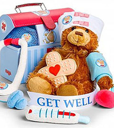 Plush Doctor Kit with Bear Patient