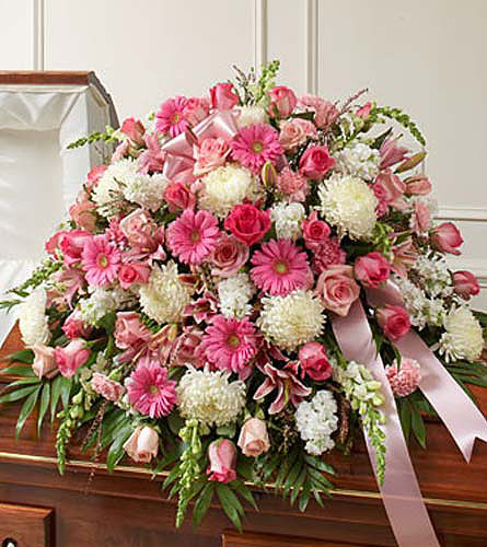 Cherished Memories Pink & White !TM Casket Co