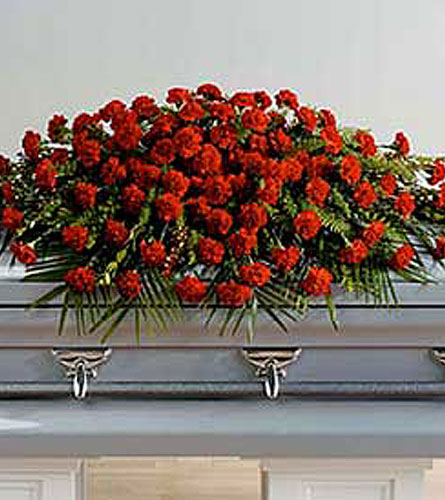 Full Cover Carnation Casket Spray