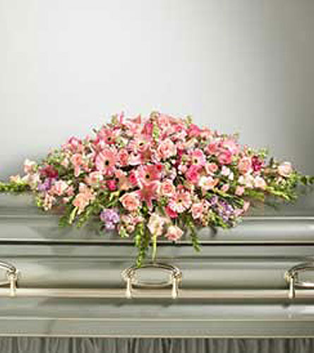 All-Pink Casket Cover Spray