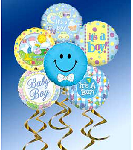 Baby Boy Mylar Balloon Bouquet