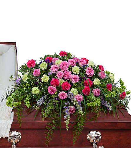 Forever Cherished Casket Spray in Edmonton AB, Flowers By Merle