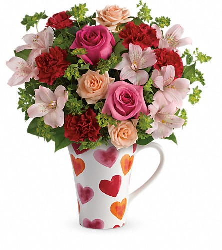 Teleflora's Hearts And Hugs Bouquet in Eugene OR, Rhythm & Blooms