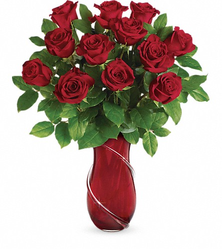 Teleflora's Wrapped In Roses Bouquet in Burlington ON, Appleby Family Florist