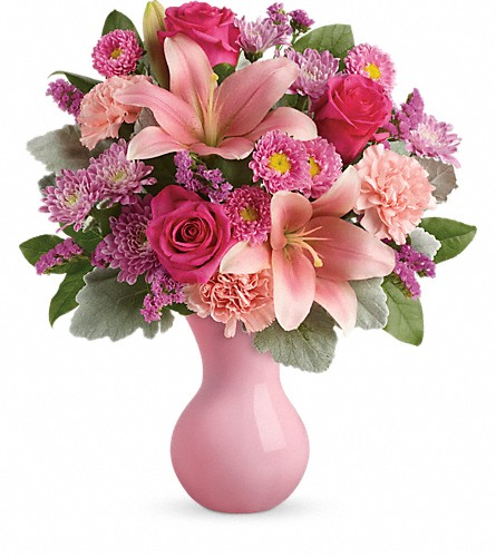 Teleflora's Lush Blush Bouquet in DeKalb IL, Glidden Campus Florist & Greenhouse