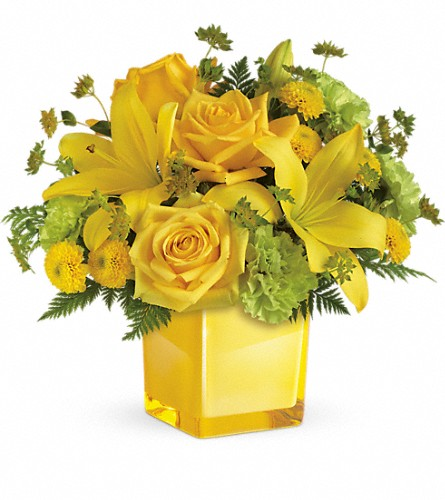 Teleflora's Sunny Mood Bouquet in Big Rapids MI, Patterson's Flowers, Inc.