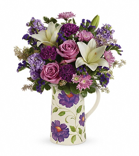 Teleflora's Garden Pitcher Bouquet in Bellevue PA, Dietz Floral & Gifts