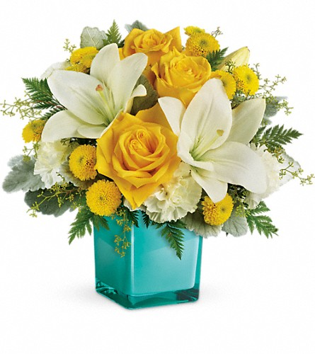 Teleflora's Golden Laughter Bouquet in Lewistown MT, Alpine Floral Inc Greenhouse