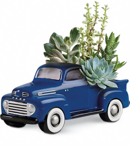 His Favorite Ford F1 Pickup by Teleflora in Chandler OK, Petal Pushers