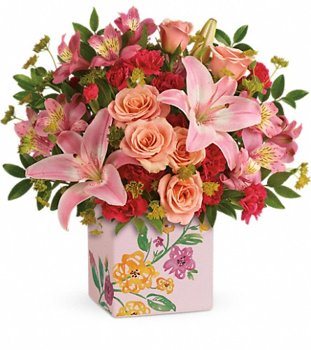 Teleflora's Brushed With Blossoms Bouquet in San Bruno CA, San Bruno Flower Fashions