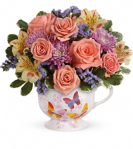 Teleflora's Butterfly Sunrise Bouquet in Arlington TX, Country Florist