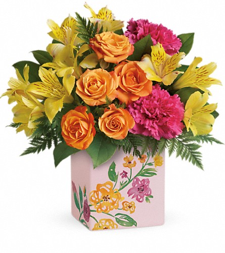 Teleflora's Painted Blossoms Bouquet in Belford NJ, Flower Power Florist & Gifts
