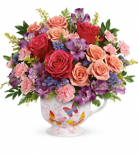 Teleflora's Wings Of Joy Bouquet in San Bruno CA, San Bruno Flower Fashions