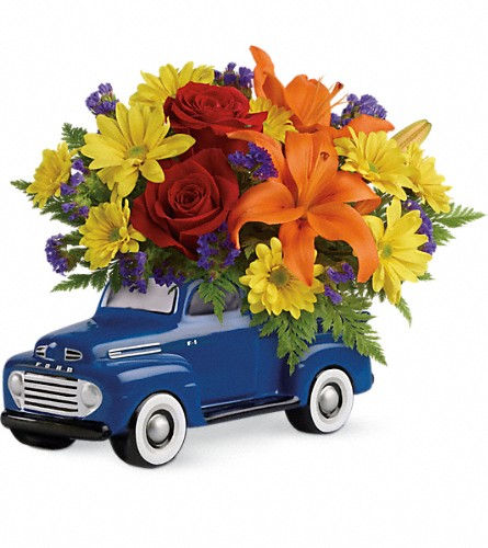 Vintage Ford Pickup Bouquet by Teleflora in Edmonton AB, Petals For Less Ltd.