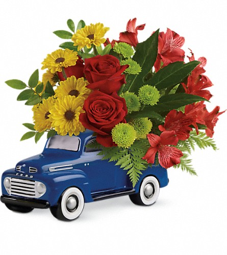 Glory Days Ford Pickup by Teleflora in Springfield OH, Netts Floral Company and Greenhouse