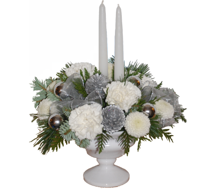 White christmas in scarborough on helen blakey flowers white centerpiece arrangement white christmas view larger mightylinksfo